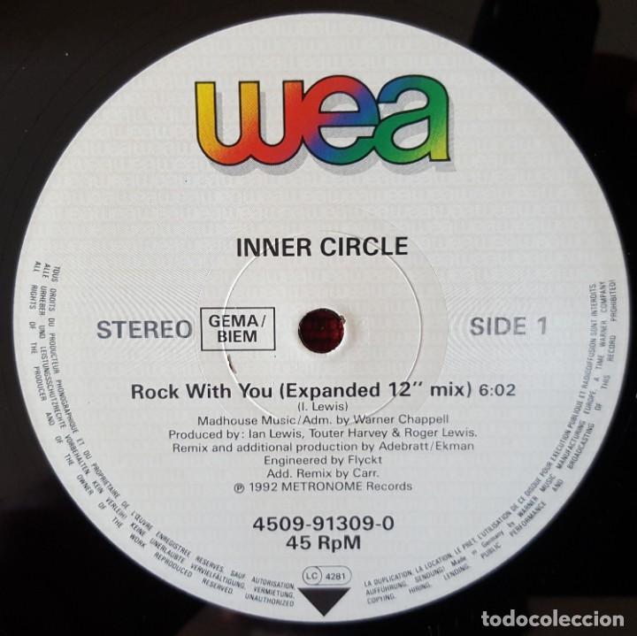 Discos de vinilo: INNER CIRCLE Rock With You REMIXES Maxi-Single VINILO 1992 Alemania - Foto 3 - 166608674