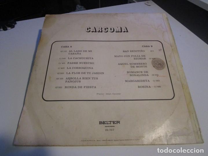 Discos de vinilo: CARCOMA LP 1973 BELTER - Foto 2 - 166683754