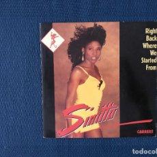 Discos de vinilo: SINITTA ?– RIGHT BACK WHERE WE STARTED FROM SELLO: CARRERE ?– 14.737 FORMATO: VINYL, 7 , 45 RPM . Lote 166683834