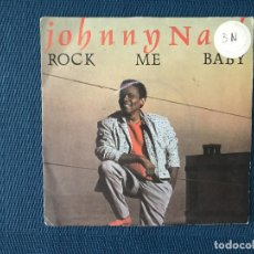 Discos de vinilo: JOHNNY NASH ?– ROCK ME BABY SELLO: POLYDOR ?– 883 734-7 FORMATO: VINYL, 7 , 45 RPM, SINGLE PAÍS: FR. Lote 166683930