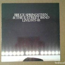 Discos de vinilo: BRUCE SPRINGSTEEN & THE E STREET BAND -LIVE / 1975-85 - LP COPIA PROMOCIONAL CBS 1986 SAMP LP 1104 E. Lote 166684818