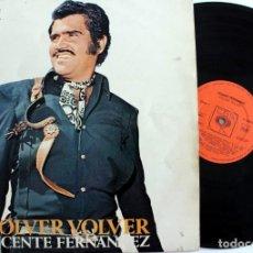 Discos de vinilo: VICENTE FERNANDEZ - VOLVER VOLVER - VINILO LP -S 65423 AÑO 1972 CBS -. Lote 166695170