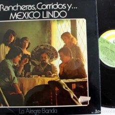 Discos de vinilo: RANCHERAS, CORRIDOS Y... MEXICO LINDO - LA ALEGRE BANDA - PA 6019 -VINILO LP -. Lote 166697270