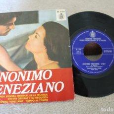 Discos de vinilo: ANONIMO VENECIANO BANDA SONORA ORIGINAL DE LA PELICULA SINGLE. Lote 166705470