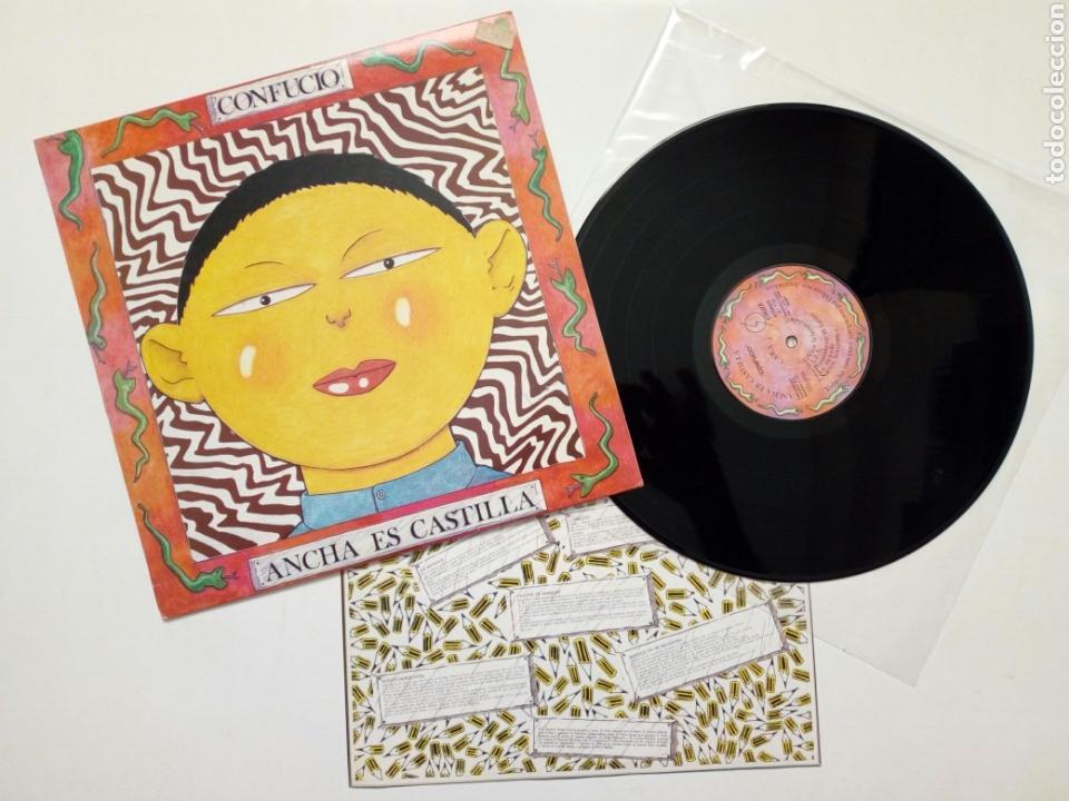 LP : ANCHA ES CASTILLA - CONFUCIO (OHIUKA, 1988) - GRUPO VASCO DE ROCK DE LOS OCHENTA - MUY BUENO - (Música - Discos - LP Vinilo - Grupos Españoles de los 70 y 80)