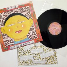 Discos de vinilo: LP : ANCHA ES CASTILLA - CONFUCIO (OHIUKA, 1988) - GRUPO VASCO DE ROCK DE LOS OCHENTA - MUY BUENO -. Lote 166700626