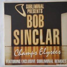 Discos de vinilo: MAXI TRIPLE ( TRES DISCOS) BOB SINCLAR ?– CHAMPS ELYSÉES / SUBLIMINAL 2000. Lote 166711374