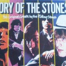 Discos de vinilo: THE ROLLING STONES LP DOBLE STORY OF THE STONES-30 ORIGINAL GREATS.INGLATERRA.-1982- CARPETA DOBLE.. Lote 166723978