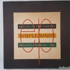 Discos de vinilo: MAXI / SIMPLE MINDS / BALLAD OF THE STREETS / VIRGIN 1989. Lote 166734250