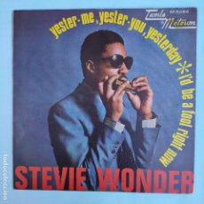 Discos de vinilo: STEVIE WONDER - YESTER-ME, YESTER-YOU, YESTERDAY - SE VENDE SÓLO PORTADA (SIN VINILO EN EL INTERIOR). Lote 166738674