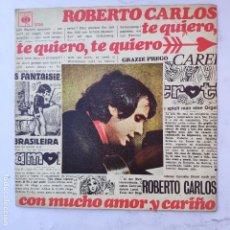 Discos de vinilo: ROBERTO CARLOS - TE QUIERO, TE QUIERO - SE VENDE SÓLO PORTADA (SIN VINILO EN EL INTERIOR). Lote 166739318