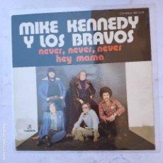 Discos de vinilo: MIKE KENNEDY Y LOS BRAVOS - NEVER, NEVER, NEVER - SE VENDE SÓLO PORTADA (SIN VINILO EN EL INTERIOR). Lote 166743426