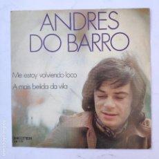 Disques de vinyle: ANDRES DO BARRO - ME ESTOY VOLVIENDO LOCO - SE VENDE SÓLO PORTADA (SIN VINILO EN EL INTERIOR). Lote 166745810