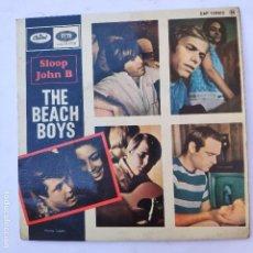 Discos de vinilo: EP THE BEACH BOYS - SLOOP JOHN B - SE VENDE SÓLO PORTADA (SIN VINILO EN EL INTERIOR). Lote 166746146
