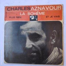 Discos de vinilo: EP CHARLES AZNAVOUR - LA BOHEME - SE VENDE SÓLO PORTADA (SIN VINILO EN EL INTERIOR). Lote 166746202
