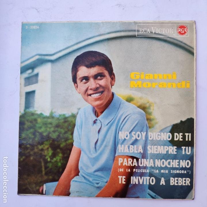 GIANNI MORANDI - NO SOY DIGNO DE TI - SE VENDE SÓLO PORTADA (SIN VINILO EN EL INTERIOR) (Música - Discos de Vinilo - EPs - Otros estilos)