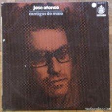 Discos de vinilo: JOSÉ AFONSO. CANTIGAS DO MAIO. HISPAVOX HXS 001-36. ESPAÑA, 1973. FUNDA VG++, DISCO EX.. Lote 166749702