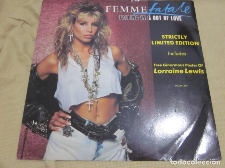 FEMME FATALE - FALLING IN & OUT OF LOVE - MAXI EDICION LIMITADA INGLESA DEL AÑO 1988. (Música - Discos de Vinilo - Maxi Singles - Heavy - Metal)