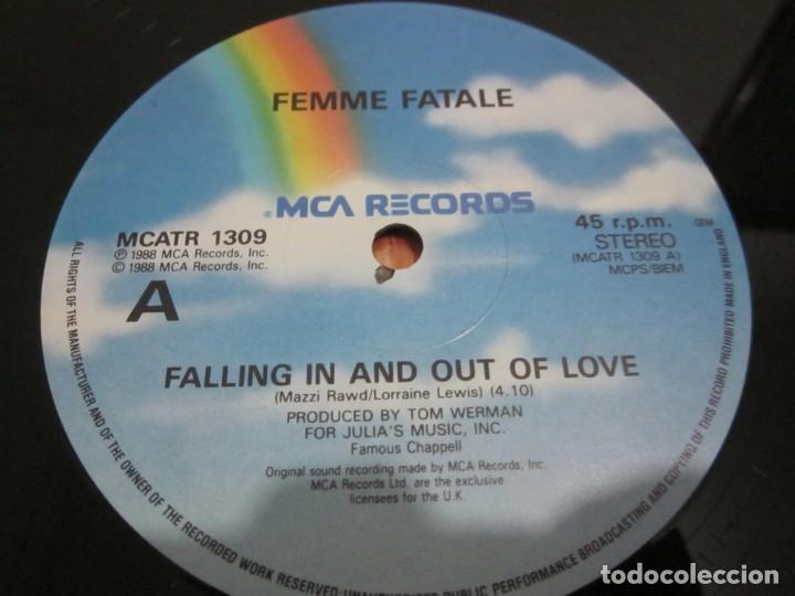 Discos de vinilo: FEMME FATALE - FALLING IN & OUT OF LOVE - MAXI EDICION LIMITADA INGLESA DEL AÑO 1988. - Foto 3 - 166759546