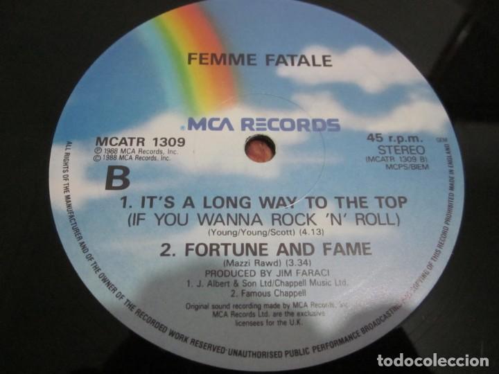 Discos de vinilo: FEMME FATALE - FALLING IN & OUT OF LOVE - MAXI EDICION LIMITADA INGLESA DEL AÑO 1988. - Foto 4 - 166759546