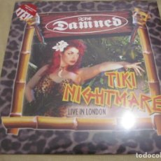 Discos de vinilo: THE DAMNED - TIKI NIGHTMARE LIVE IN LONDON - 2 LP'S - LIMITED EDITION RED VINYL.. Lote 166761974