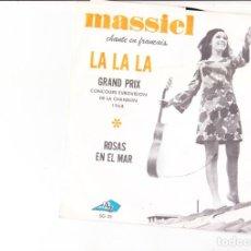 Discos de vinilo: GRAND PRIX EUROSVISION SPAIN 1968 LA LA LA FRENCH VERSION. Lote 166764836
