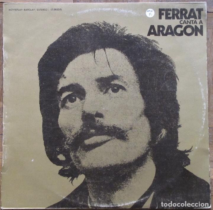 FERRAT CANTA A ARAGON. BARCLAY MOVIEPLAY, 17.0633/5. 1974, ESPAÑA. FUNDA VG+, DISCO EX. (Música - Discos - LP Vinilo - Canción Francesa e Italiana)