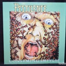 Discos de vinilo: PESTILENCE - CONSUMING IMPULSE - LP. Lote 166778686