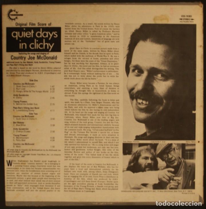 Discos de vinilo: QUIET DAYS IN CLICHY. DÍAS TRANQUILOS EN CLICHY. COUNTRY JOE McDONALD - Foto 2 - 166784622