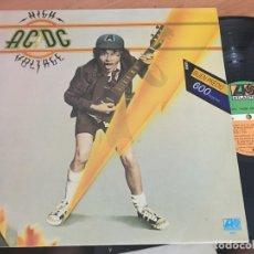 Discos de vinilo: ACDC AC DC (HIGH VOLTAGE) LP ESPAÑA 1982 (B-3). Lote 166785442