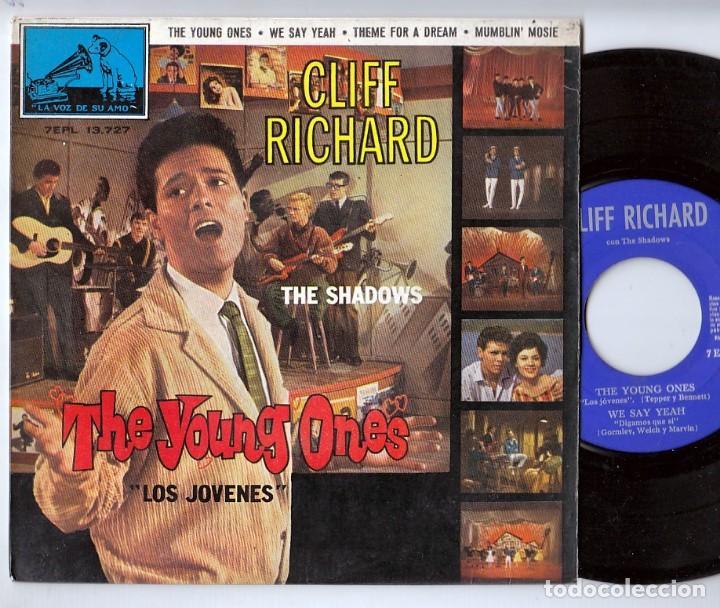 THE SHADOWS: THE YOUNG ONES- MUY BIEN -OPORTUNIDAD-CLIFF RICHARD-LOS JOVENES (Música - Discos de Vinilo - EPs - Solistas Españoles de los 50 y 60)