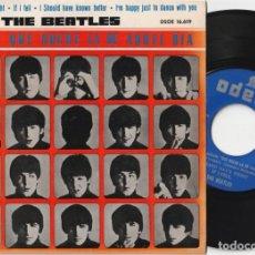 Discos de vinilo: THE BEATLES - QUE NOCHE LA DE AQUEL DIA + 3 (EP ODEON 1964). Lote 166803198