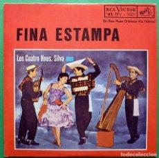 Discos de vinilo: LOS CUATRO HERMANOS SILVA: FINA ESTAMPA / DIME POR QUÉ + 2 - EP - RCA VENEZUELA - AÑOS 60 - VG+. Lote 166805942