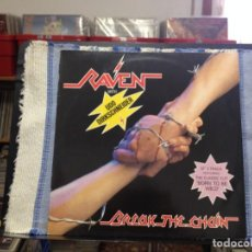 Discos de vinilo: RAVEN WHIT UDO DIRKSCHNEIDER - BREAK THE CHAIN/ 12' VINYL MADE IN NETHERLAND. NM - NM. Lote 166807310