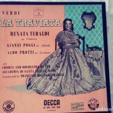 Discos de vinilo: LA TRAVIATA. RENATA TEBALDI. 3 LPS. Lote 166831078