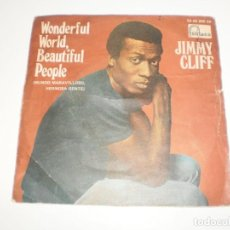 Discos de vinilo: SINGLE JIMMY CLIFF. WONDERFUL WORLD, BEAUTIFUL PEOPLE. HARD ROAD TO TRAVEL. FONTANA 1969 SPAIN . Lote 166831398