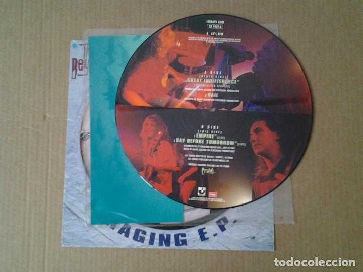 Discos de vinilo: THE BEYOND -RAGING E.P.- EP PICTURE DISC 1991 HARVEST EMI 12HARPD 5301 MUY BUENAS CONDICIONES. - Foto 2 - 166835330