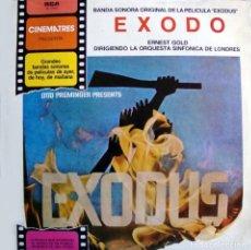 Discos de vinilo: EXODO, B. S. O., MÚSICA DE ERNEST GOLD. . Lote 166838314