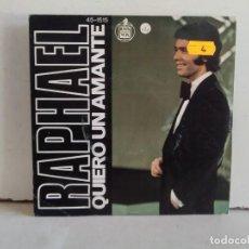 Discos de vinilo: RAPHAEL (QUIERO UN AMANTE) . Lote 166874304