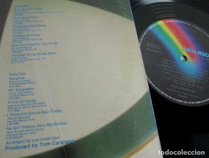 Discos de vinilo: NEIL DIAMOND - RAINBOW - LP - MCA 1973 USA - VINILO N MINT - Foto 3 - 166883492
