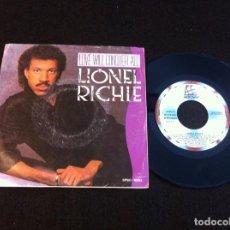 Discos de vinilo: SINGLE. LIONEL RICHIE. LOVE WILL CONQUER ALL - THE ONLY ONE. 1986. Lote 166887608