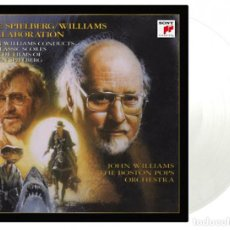 Discos de vinilo: JOHN WILLIAMS & STEVEN SPIELBERG - COLLABORATION LTD Y NUMERADA 180G VINILO TRANSPARENTE 2LP NUEVO. Lote 166887744