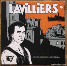 Discos de vinilo: LAVILLIERS. TOUT EST PERMIS, RIEN N'EST POSSIBLE. BARCLAY 821 829-1. FRANCIA, 1984. VG++, DISCO EX. Lote 166888004