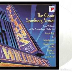 Discos de vinilo: JOHN WILLIAMS & STEVEN SPIELBERG SPIELBERG CLASSIC SCORES 180G VINILO TRANSPARENTE 2LP NUEVO . Lote 166890104