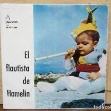 Discos de vinilo: CUENTO EL FLAUTISTA DE HAMELÍN - SINGLE DEL SELLO IBEROFÓN 1961. Lote 166891504