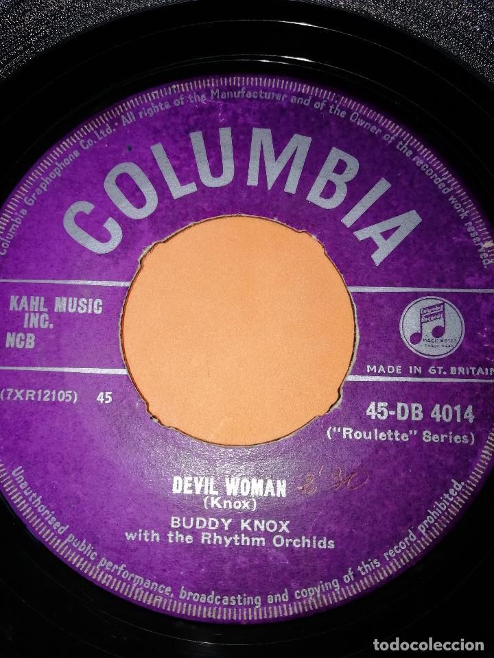 Discos de vinilo: BUDDY KNOX. HULA LOVE & DEVIL WOMAN. 1957. COLUMBIA. RARO. - Foto 4 - 166892328