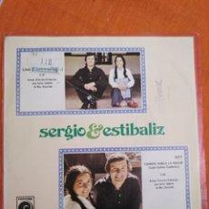 Discos de vinilo: SERGIO Y ESTÍBALIZ. TU VOLVERÁS. CUANDO HABLA LA NOCHE. Lote 166895528