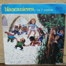 Discos de vinilo: CUENTO BLANCANIEVES Y LOS SIETE ENANITOS - SINGLE DEL SELLO MOVIEPLAY 1970. Lote 166896672