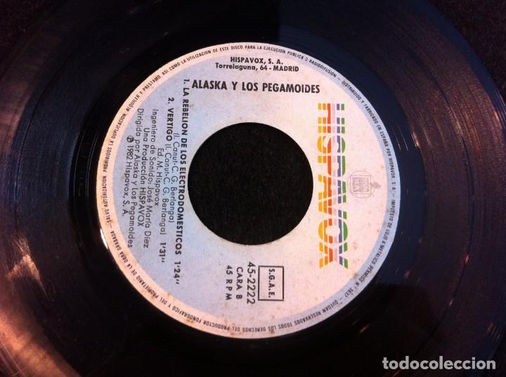 SINGLE. ALASKA Y LOS PEGAMOIDES. BAILANDO. LA REBELIÓN DE LOS ELECTRODOMÉSTICOS 1982 (SIN CARPETA) (Música - Discos - Singles Vinilo - Otros estilos)
