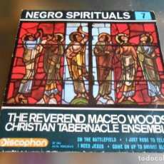 Discos de vinilo: REVEREND MACEO WOODS´CHRISTIAN TABERNACLE ENSEMBLE, EP, ON THE BATTLEFIELD + 3, AÑO 1963. Lote 166916000